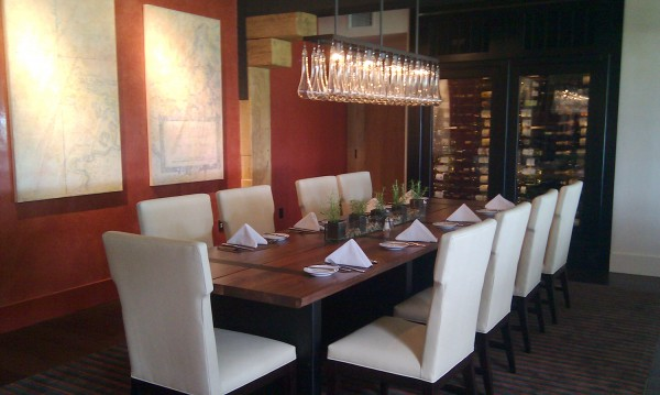 A banquet table inside a glass-enclosed private dining room is a serene nook inside of the new Italian restaurant La Bella Vita Ristorante. The restaurant is part of this year's $2 million renovation at the Samoset Resort.