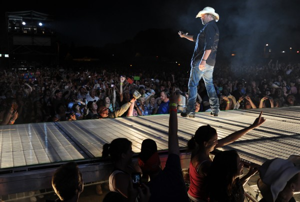 Toby Keith takes to the stage on the Bangor Waterfront on Saturday, July 9, 2011.