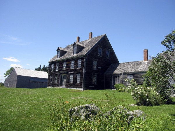 "This July 7, 2011 photo shows the Olson House, which was declared a National Historic Landmark June 30, in Cushing, Maine. The farmhouse was made famous in Andrew Wyeth's painting ""Christina's World,"" which depicts Christina Olson dragging herself across a field toward the house, where she lived with her brother for decades until shortly before their deaths in the late 1960s."