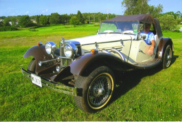 Arthur and Kirsti Fish sit in their 1932 Roadster kit car earlier this year. The car will be featured in the Washington Bicentennial parade Saturday, Aug. 6. Comments by Congresswoman Chellie Pingree will set the stage for the parade, which begins at 10 a.m. The parade is part of a daylong celebration including a children's carnival area, demonstrations of old-time skills, food and presentation booths, a dance, fireworks and more.