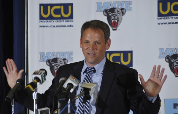 Richard Barron, the first-year women's basketball head coach at the University of Maine, is spending the summer traveling around the country recruiting players to join the recently struggling Division I program.