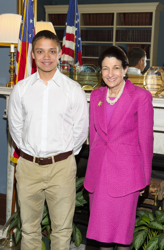 U.S. Sen. Olympia J. Snowe met recently with foreign exchange student Ben Rabe of Chemnitz, Germany. Rabe attended Belfast Area High School in Belfast. He spent the 2010-2011 school year in Maine as part of the Congress-Bundestag Youth Exchange program.
