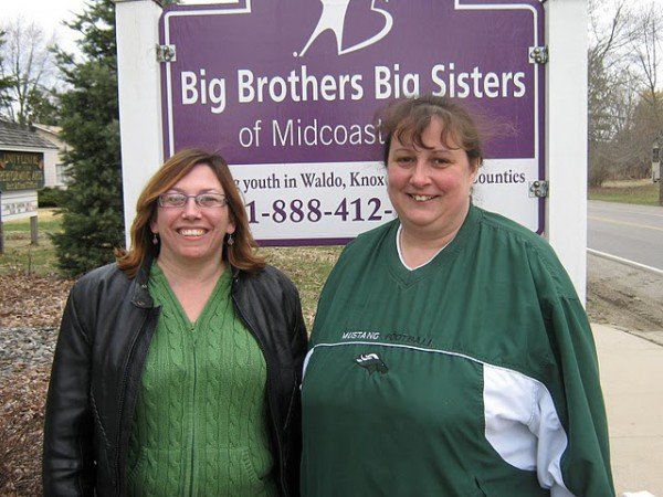 Mount View Elementary School Coordinator Sarah Howe and Troy Elementary School Coordinator Lisa Myrick serve as volunteers for Big Brothers Big Sisters of Midcoast Maine. The agency is seeking volunteer coordinators for the 2011-2012 school year.