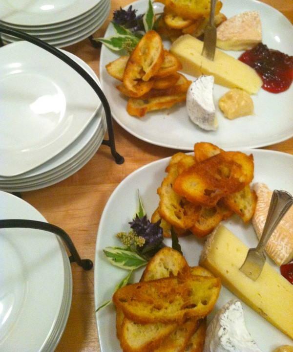 ... a selection of locally made cheeses ...