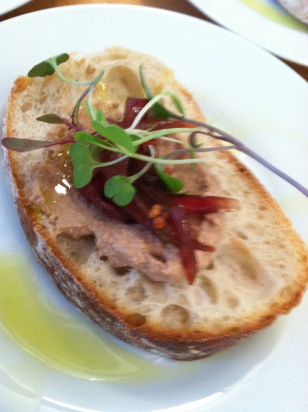 ... and chicken liver pate on toast.