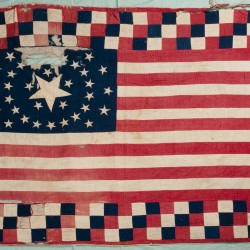 In early summer 1864, Belfast women made a flag bed quilt and shipped it to a Washington, D.C., military hospital. Written in ink on the quilt were the women's names and phrases and puns relating to the Civil War. The quilt vanished until turning up in a Montana closet earlier this year; the Belfast Historical Society received the quilt on March 11, almost 147 years after it left Belfast.