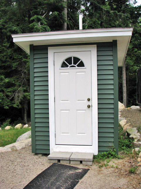 Some people have described out Outhouse as the Uptown Outhouse. Our outhouse is located on West Grand Lake, Maine