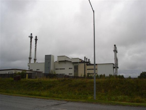 The central heat plant at Loring Air Force Base in Limestone, Maine.