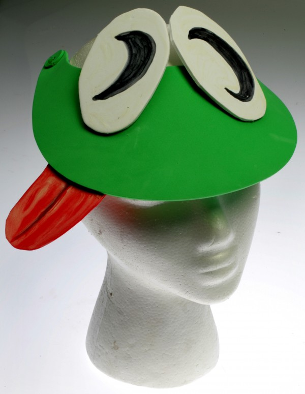 Make a frog visor that will attract fireflies.