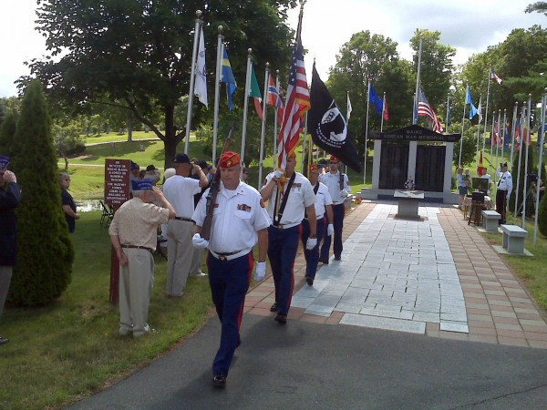 Korean War veterans gather on July 27 in Bangor to mark the war's end in 1953.