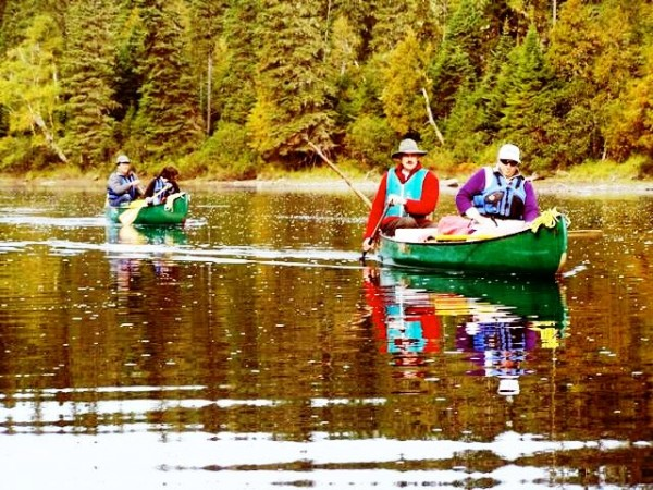 A group of state legislators explore the Allagash Wilderness Waterway during a canoe trip several years ago.