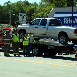 Biker injured in downtown Lincoln crash