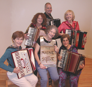 The Maine Squeeze Accordion Ensemble from Portland will perform on the grassy area behind Newport Cultural Center, which is located on Main Street in Newport, on Thursday evening.