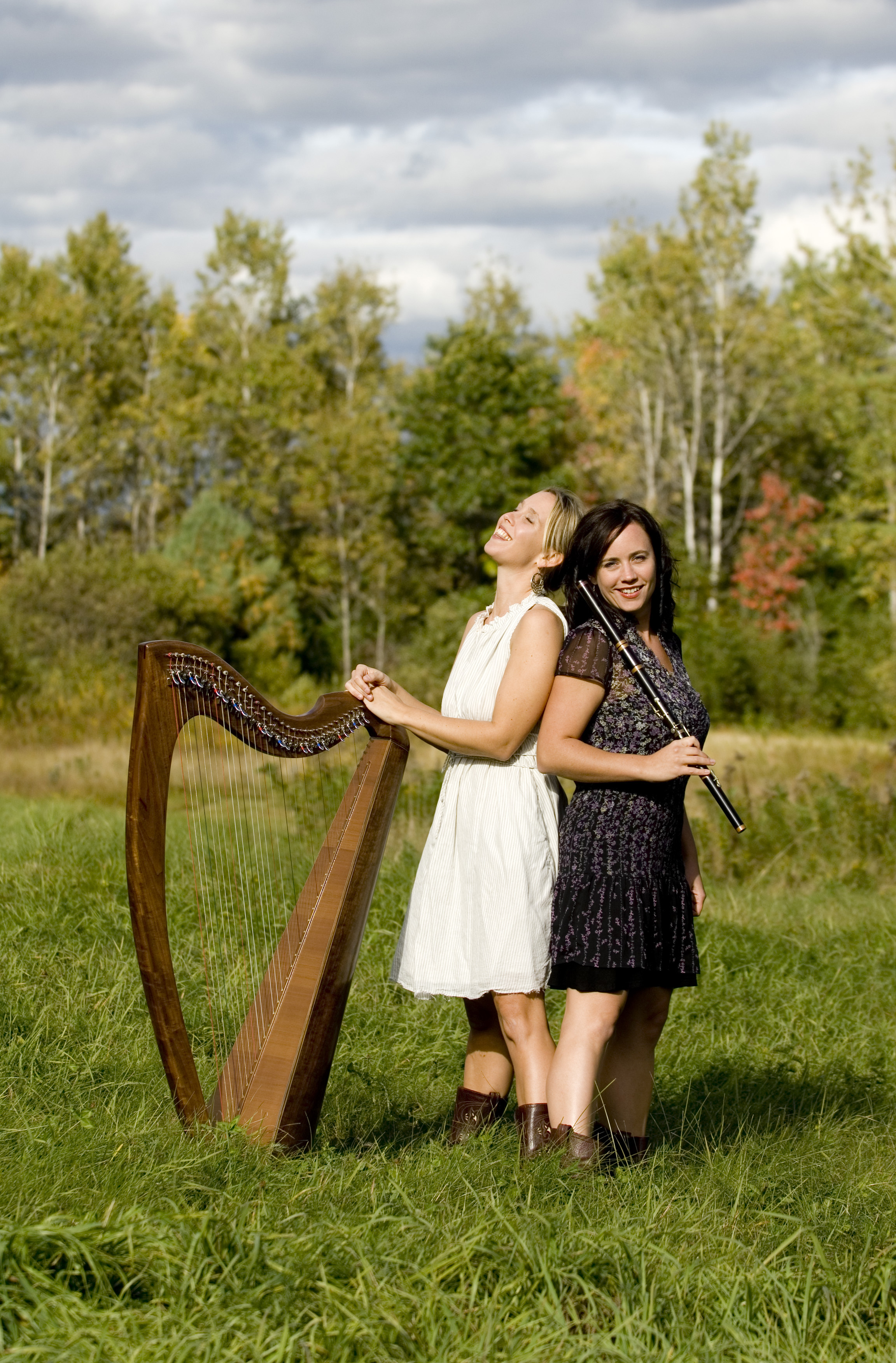 Danielle Langord, harpist, and Nicole Rabata, flutist, comprise the traditional Celtic duo, Naia. They will perform at 4 p.m. Sunday, July 24 at the First Congregational Church of Camden. The concert is free of charge, and a reception will follow.