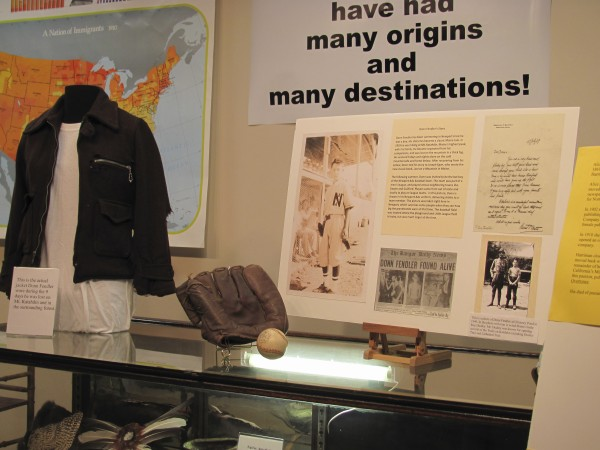 An exhibit linked to Donn Fendler, famous for surviving several days in the forests of Mount Katahdin as a young boy in 1939, is on display at the Newport Cultural Center as of July 18, 2011. The exhibit includes the coat Fendler wore during his ordeal and artifacts from Fendler's days as a ball boy for a semi-professional Newport-based baseball team. The oversight of these items and thousands of others is being contested by cultural center officials and members of the former Newport Historical Society.