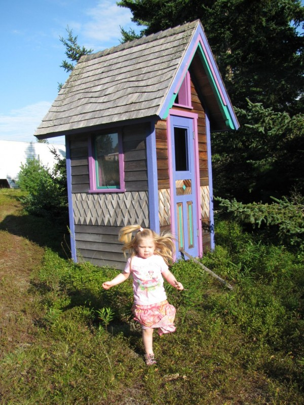 Many outhouses built during the Victorian Era were still in use when conventional indoor plumbing made it's mark in the early 1900's. I built ours using the distinctive style of those times. It looks very at home out in the field and has been a joy to use as we built our house.