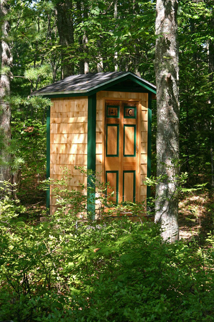 Will Dupuis of Boothbay Harbor, sent in this picture of his privy.
