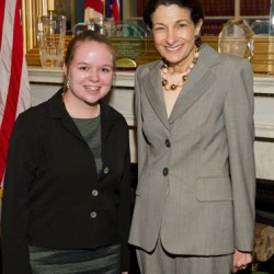 U.S. Sen. Olympia J. Snowe met with Paige Greene of Waldoboro, a participant in the National Young Leaders Conference in Washington, D.C. Snowe commended her for her participation in the leadership training program. The National Young Leaders Conference is sponsored by the Congressional Youth Leadership Council. Students spend the week meeting with members of Congress, participating in interactive activities and debating current issues. The program is designed to educate and inspire future leaders who desire an opportunity to learn outside the classroom.