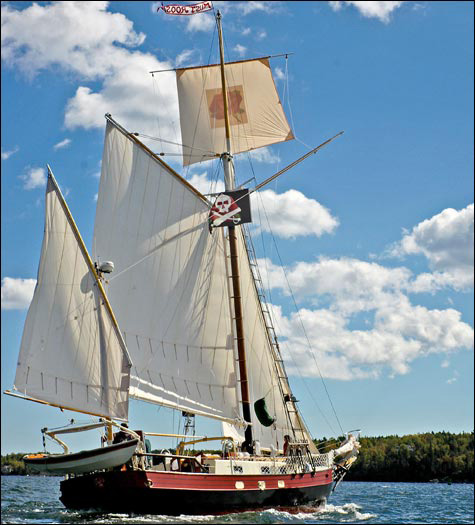 The Must Roos will ply the waters of the Penobscot River during Pirate Day on Saturday, July 16, at Fort Knox State Historic Site in Prospect.