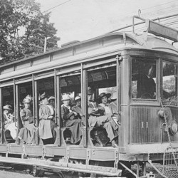 Bangor's open-air trolleys offered people a chance to cool off during the great heat wave of 1911, a century ago this month.