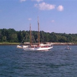Schooner floats free after running aground near Portland Harbor