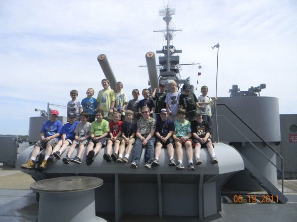 Boy Scouts from the Unity area and their families stayed overnight on the USS Massachusetts on June 18 in Falls River, Mass.