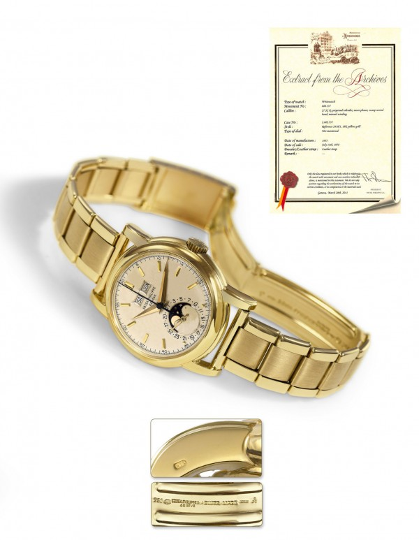 Bought new in 1958, the rare 18K Patek Philippe watch recently sold for $380,006 in an Antiquorum Hong Kong auction.