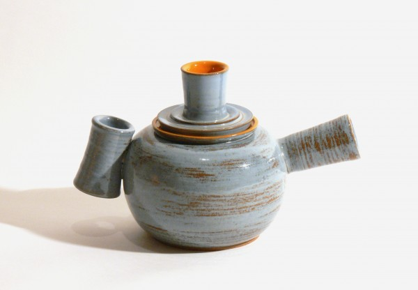 "Jemma Gascoine's teapot is one of the many on display at Lake Hebron Artisans in Monson for their second ceramic teapot show ""Teapots II"" running through July 31."