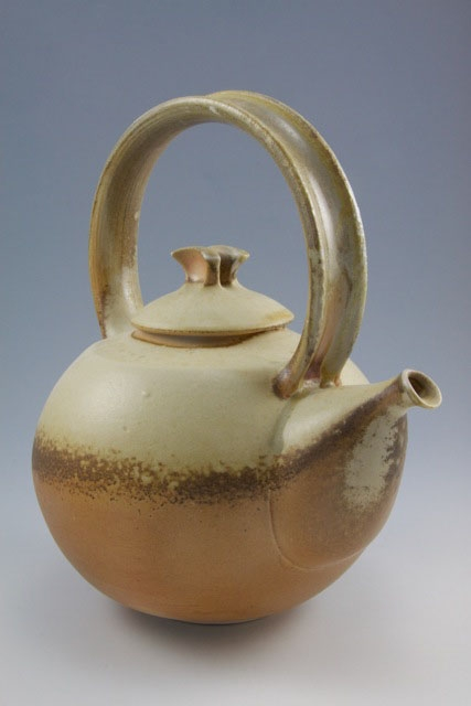 "Simon van der Ven's teapot is one of the many on display at Lake Hebron Artisans in Monson for their second ceramic teapot show ""Teapots II"" running through July 31."