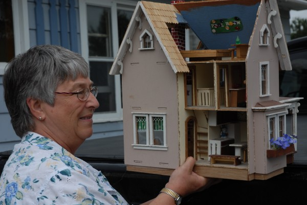 Cricket Minet of Cross Lake was all smiles after finding this dollhouse this weekend at the annual 30-Mile Yard Sale.