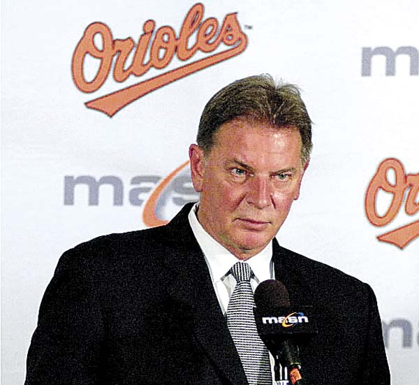 Baltimore Orioles executive vice president Mike Flanagan speaks during a news conference in Baltimore in 2007. The former Cy Young winner, who won 167 games over 18 seasons with Baltimore and the Toronto, committed suicide Wednesday.