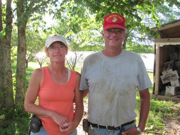 Pete and Cathy Karonis, owners of Fairwind Farm in Topsham and Bowdoinham, said on Monday, Aug. 29, 2011, that their crop losses associated with Hurricane Irene were worth thousands of dollars but that they consider themselves lucky the storm wasn't worse.