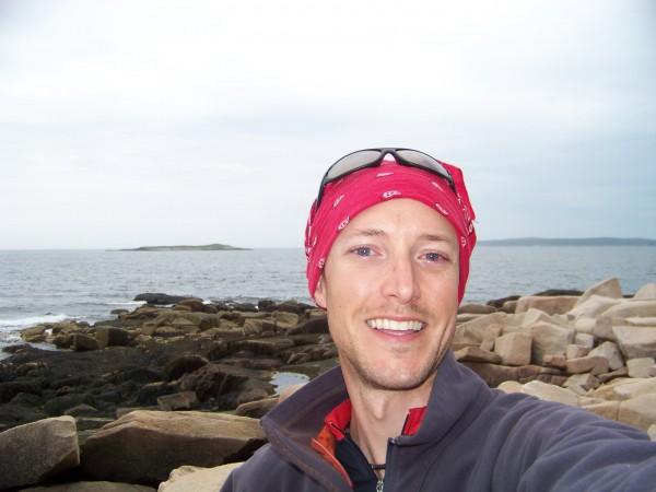 Levi Bridges pictured on Little Black Island, south of Mount Desert.