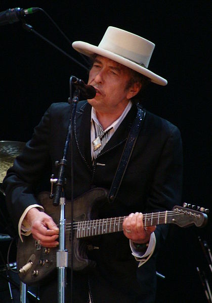 Bob Dylan onstage at the Azkena Rock Festival, Vitoria-Gasteiz, Spain, June 26, 2010.