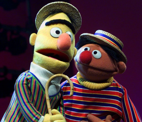 In this Aug. 22, 2001 file photo, Muppets Bert, left, and Ernie, from the children's program &quotSesame Street,&quot are shown in New York.