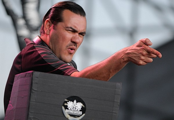 DJ-producer Ant (Anthony Davis) of the Minneapolis-based hip-hop group Atmosphere performs at the KahBang festival Friday night, Aug. 12, 2011.