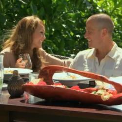 "Ashley Hebert, a Madawaska, Maine, native, and J.P. Rosenbaum on the season finale of ""The Bachelorette."""