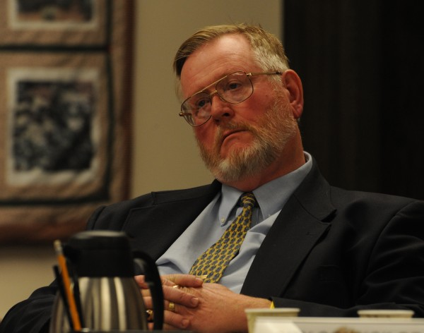 "Bangor City Council member Gerry Palmer Jr. listens to members of the public during a debate at Bangor City Hall in November 2009. Longtime Bangor City Councilor and former Mayor Palmer said Tuesday he will not seek re-election this fall, opting instead to retire and return to being an ""active Bangor citizen."""