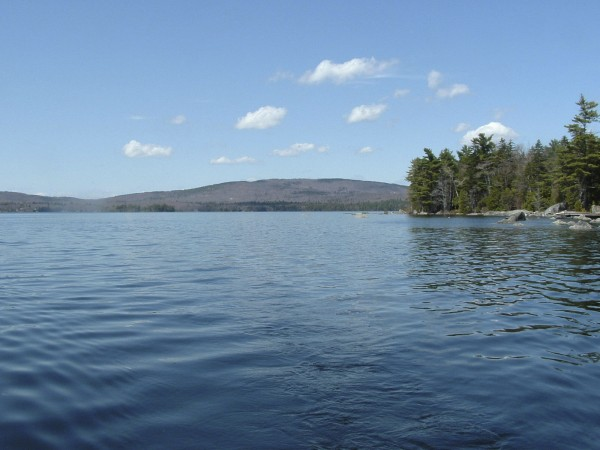 This view from Branch Lake looking north toward Bald Mountain was taken near the narrows that separate the northern and southern portions of the lake situated in Ellsworth.