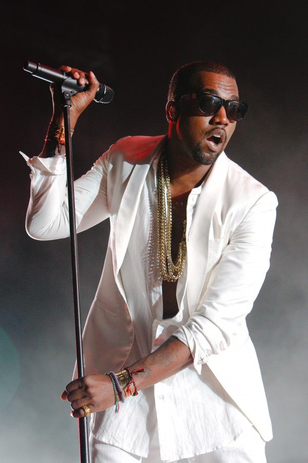 In this May 21, 2011 photo, U.S. singer and rapper Kanye West performs at Mawazine Festival in Rabat, Morocco.
