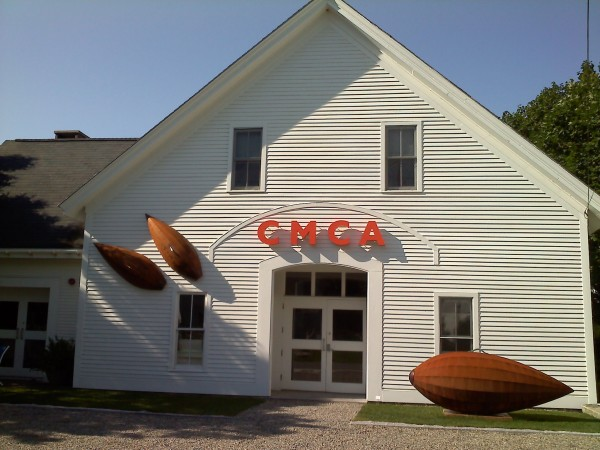 """Center for Maine Contemporary Art in Rockport; sculpture """"Operation Milkweed,"""" 2011 by J.T. Gibson of Morrill, Maine."""