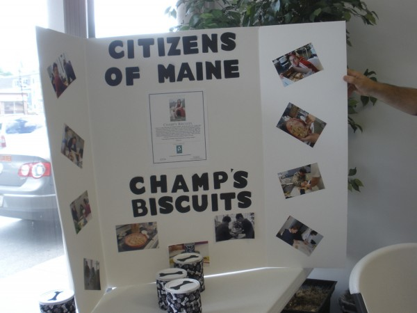 Champ's Biscuits display site at Citizens of Maine Intown Plaza.