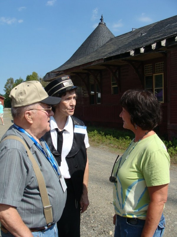 James Crandall of Greenville shared some railroad memories Saturday