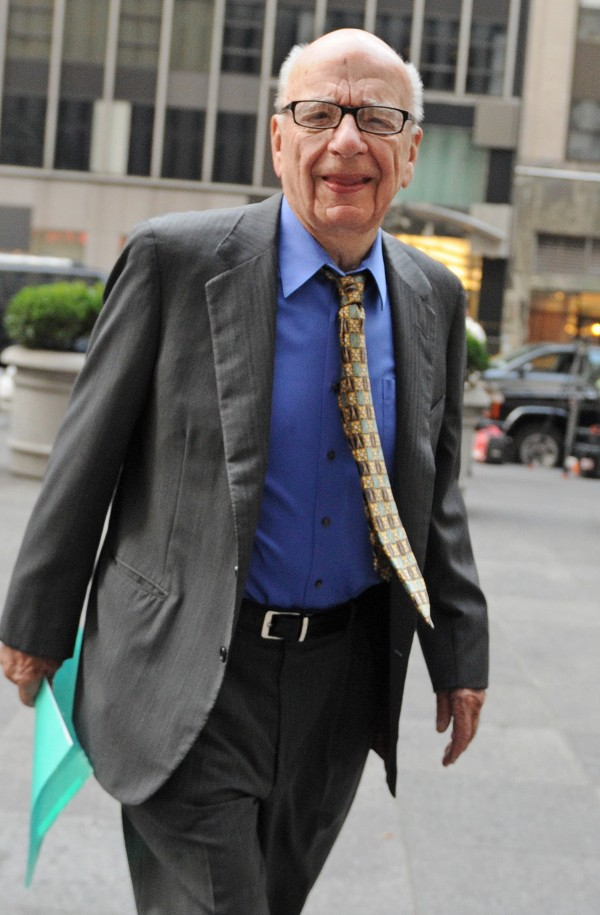 News Corp. head Rupert Murdoch enters the News Corp. building in New York recently.