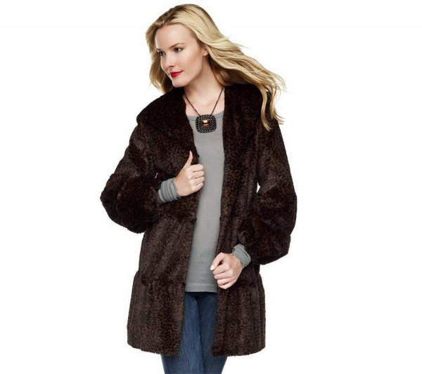 The Dennis by Dennis Basso Collection faux fur jacket runs $190.