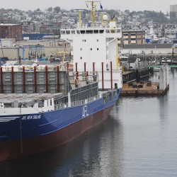 Eimskip's first container ship docks in Portland
