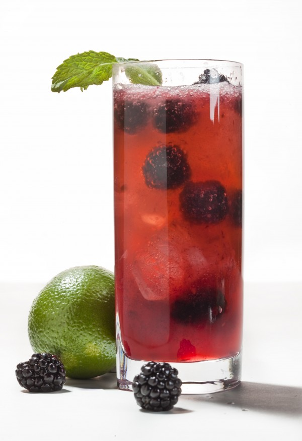 More and more people are imbibing fruit- or veggie-based nonalcoholic drinks, whether they're dining out or eating in. Stock your mocktail bar with lime, berries and a sprig of mint.