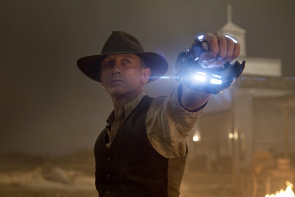 In this publicity image released by Universal Pictures, Daniel Craig is shown in a scene from &quotCowboys and Aliens.&quot