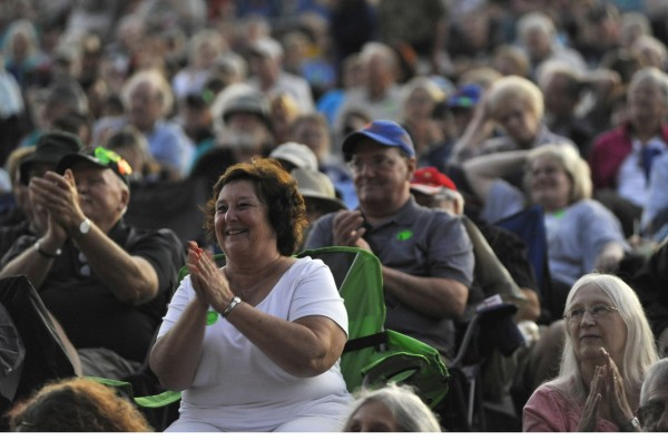 Thousand of music lovers turned out for bluegrass band Rich in Tradition and other performers at the American Folk Festival on Bangor's waterfront  Friday evening, Aug. 26, 2011.