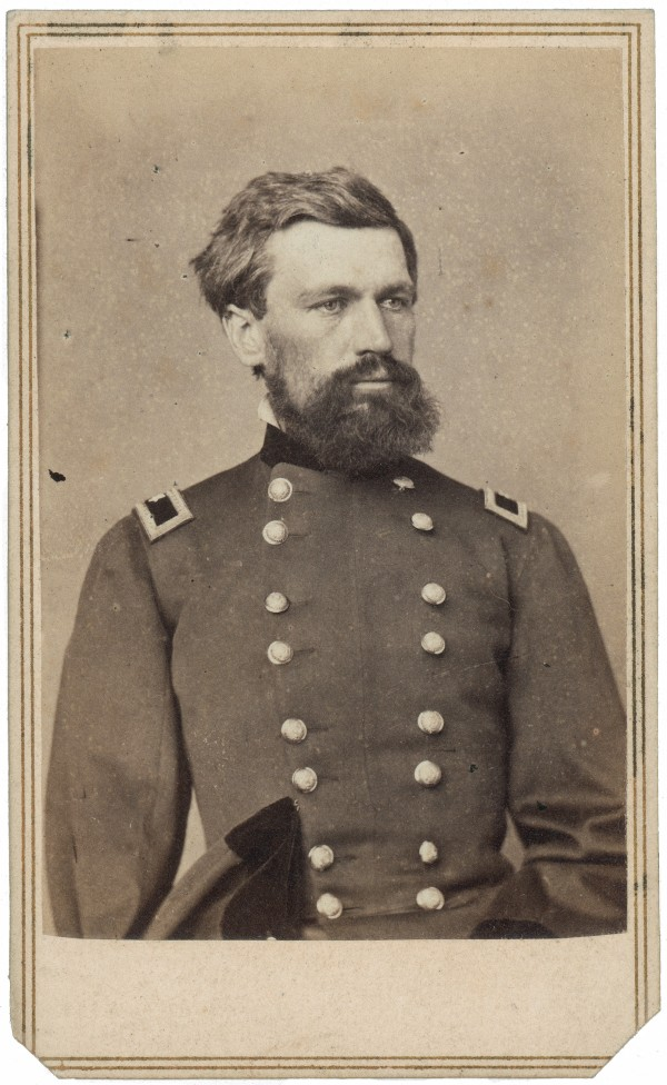 Hailing from Leeds in Androscoggin County, Oliver Otis Howard commanded a Union brigade at First Manassas and fought throughout the Civil War. He later led the Freedmen's Bureau, which assisted former slaves seeking better lives in the South.